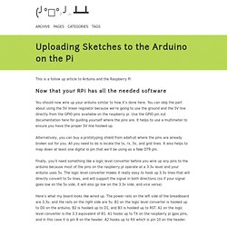 Uploading Sketches to the Arduino on the Pi
