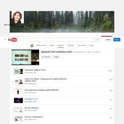 Vidéos (Playlist MOOC deMAthieu Cisel)