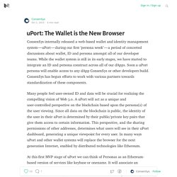 uPort: The Wallet is the New Browser