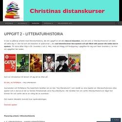 Uppgift 2 – litteraturhistoria