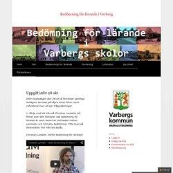 Bedömning för lärande i Varberg
