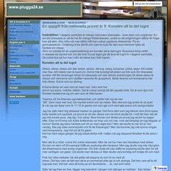 En uppgift från nationella provet år 9: Konsten att ta det lugnt - www.plugga24.se