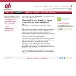 Vilka uppgifter om sina elever kan en skola publicera på sin webbplats?