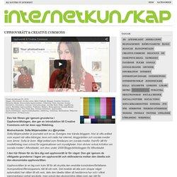 Upphovsrätt & Creative Commons