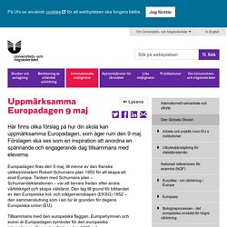 Uppmärksamma Europadagen 9 maj - Universitets- och högskolerådet (UHR)