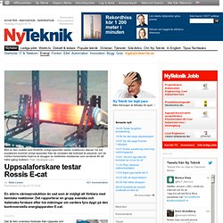 Chercheurs Uppsala testent E-cat de Rossi