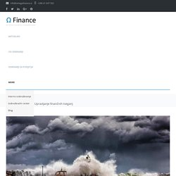 Upravljanje finančnih tveganj - Seminar