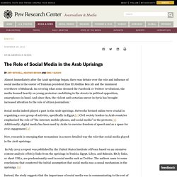 The Role of Social Media in the Arab Uprisings