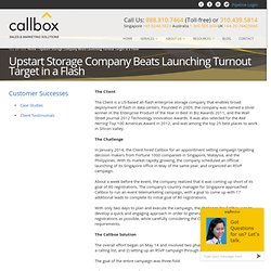 Upstart Storage Company Beats Launching Turnout Target in a Flash