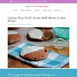 Upstate New York's Iconic Half-Moon Cookie Recipe