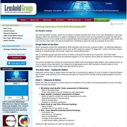 Moving Upstream From B2B Marketing ROI: Robert Lesser: Lenskold Group