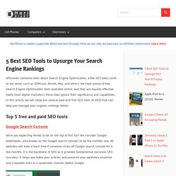 5 Best SEO Tools to Upsurge Your Search Engine Rankings - HariDiary
