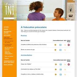 À l'éducation préscolaire