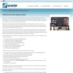 USB Enhanced Power Manager Disabler