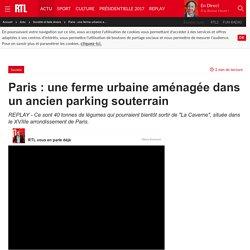 Paris : une ferme urbaine aménagée dans un ancien parking souterrain