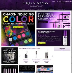 Urban Decay Cosmetics for Eyes, Lips, Face, Body and Nails - StumbleUpon