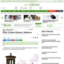 Why Urban History Matters