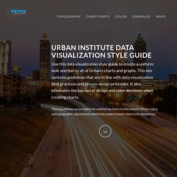 Urban Institute Data Visualization style guide