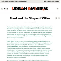 Food and the Shape of Cities