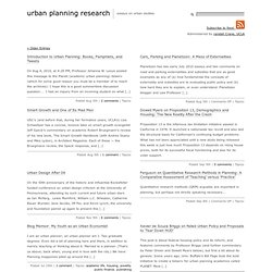 Urban planning research