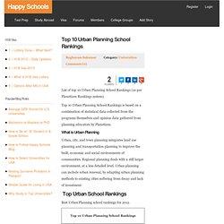 Top 10 Urban Planning School Rankings