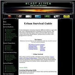 Urban Survival Guide - Urban Survival Skills