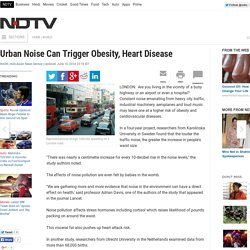 Urban Noise Can Trigger Obesity, Heart Disease