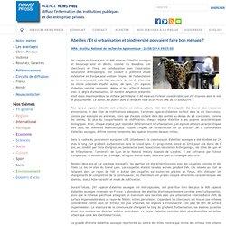 Abeilles / Et si urbanisation et biodiversité pouvaient faire bon ménage ? - INRA - Institut National de Recherche Agronomique