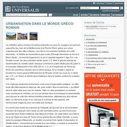 URBANISATION DANS LE MONDE GRÉCO-ROMAIN
