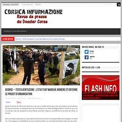 #corse - Testa Ventilègne : l'Etat fait marche arrière et enterre le projet d'urbanisation