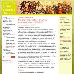 Centre for Global Economic History - Utrecht, the Netherlands
