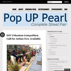 DIY Urbanism Competition Call for Artists Now Available « Pop UP Pearl