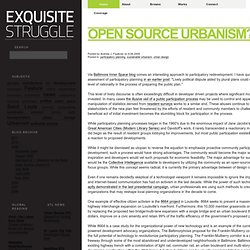 Open Source urbanism? @ Exquisite Struggle