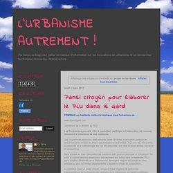 L'URBANISME AUTREMENT !: projet de territoire