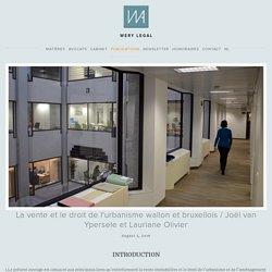 La vente et le droit de l'urbanisme wallon et bruxellois / Joël van Ypersele et Lauriane Olivier — WERY legal