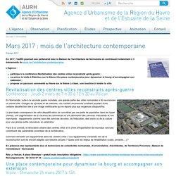 AURH : Agence d'urbanisme de la région du Havre et de l'Estuaire de la Seine - Actualités