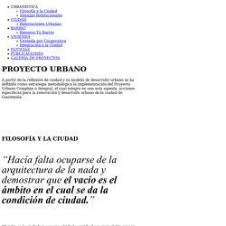 URBANÍSTICA––Empresa Metropolitana de Vivienda y Desarrollo Urbano / URBANÍSTICA / Filosofía y la Ciudad