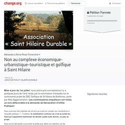 Non au complexe économique-urbanistique-touristique et golfique à Saint Hilaire