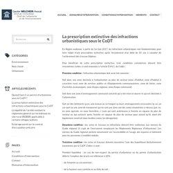La prescription extinctive des infractions urbanistiques sous le CoDT - Gautier MELCHIOR - AvocatGautier MELCHIOR – Avocat