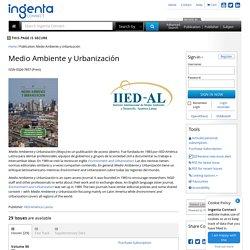 Medio Ambiente y Urbanización: Ingenta Connect Publication