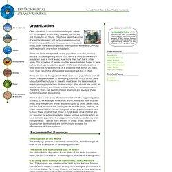 The Environmental Literacy Council - Urbanization