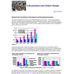 Urbanization and Global Change