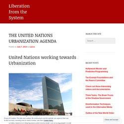 The United Nations Urbanization Agenda