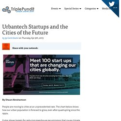 Urbantech Startups and the Cities of the Future