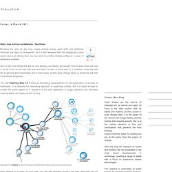 Web Links Archive as Networks - Pearltrees