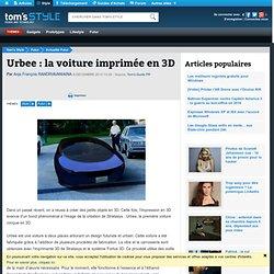 Urbee : la voiture imprimée en 3D
