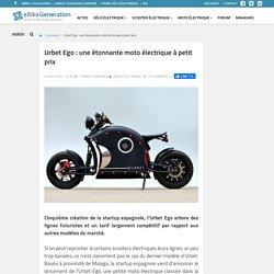 Urbet Ego : une étonnante moto électrique à petit prix