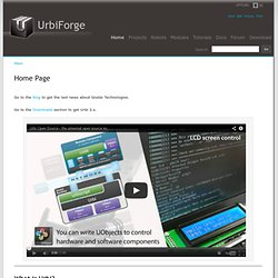 UrbiForge Main/Home Page