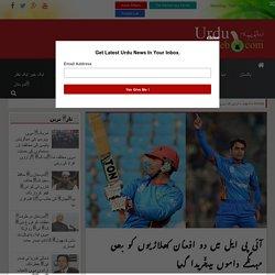 آئی پی ایل میں دو افغان کھلاڑیوں کو بھی مہنگے داموں میںخریدا گیا - Urdu Tahzeeb