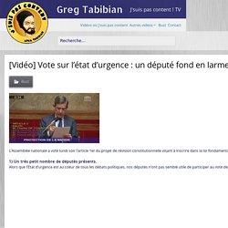 [Vidéo] Vote sur l'état d'urgence : un député fond en larmes, l'Assemblée est quasi-vide…